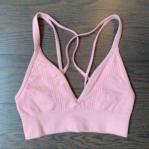 Lululemon pink workout bra